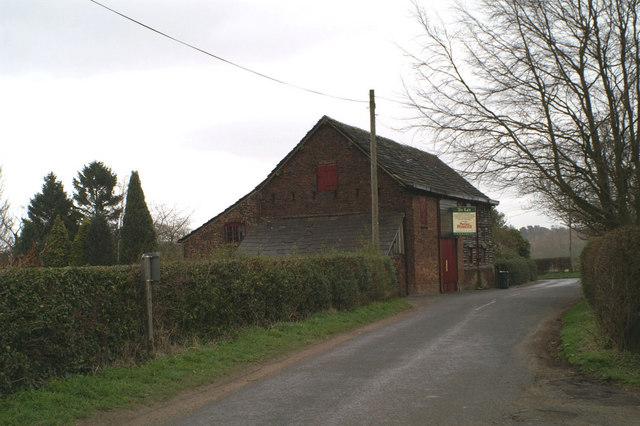 The barn at Coppice Farm, Ashley