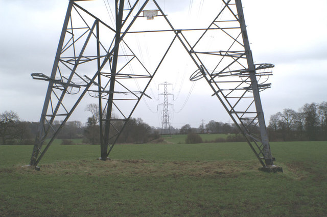 Pylons near New Farm