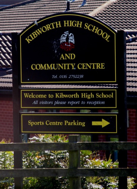Kibworth High School Sign