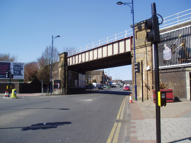 Railway overbridge, Welling, Kent