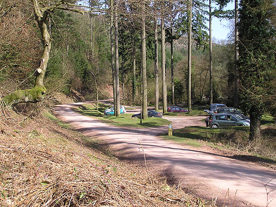 Ramscombe picnic area, upper car park
