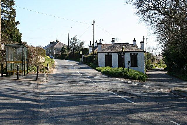 Outside Perranwell Railway Station