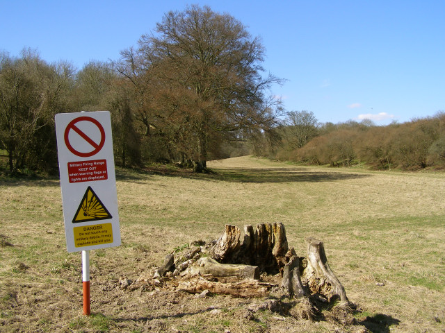 Edge of the danger zone, Morestead Down