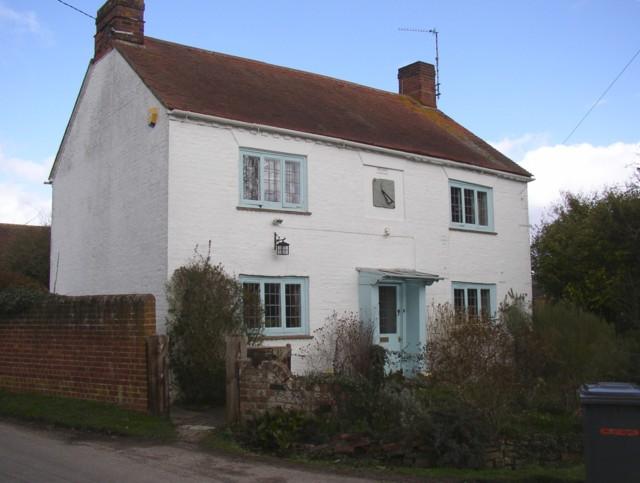Cottage with sundial, Sherborne St John