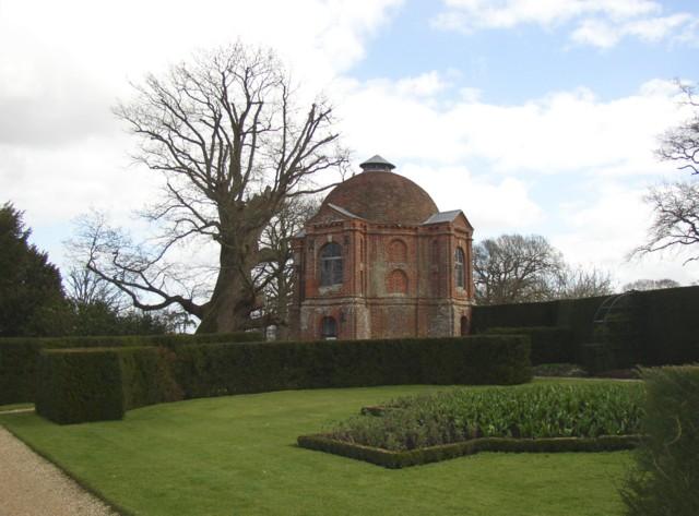 The Hundred Guinea Oak and the Summerhouse, The Vyne, Sherborne St John