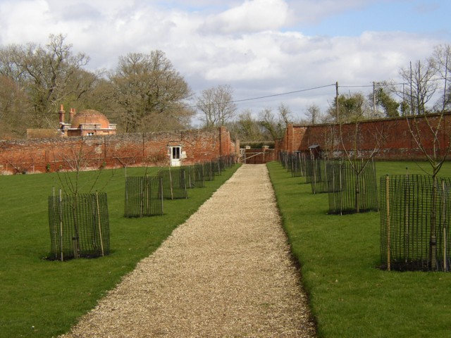 Walled garden and lodge, The Vyne, Sherborne St John