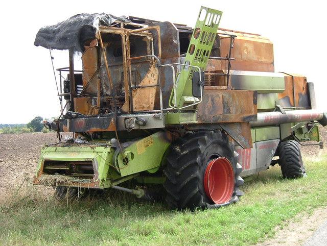 Defunct Combine Harvester