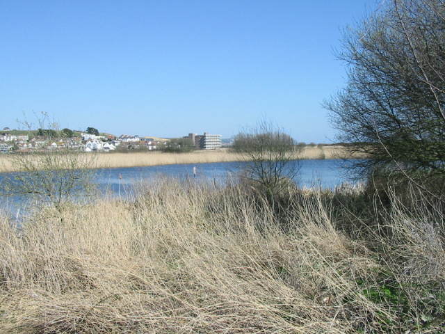 Lodmoor Nature Reserve and housing to the north-east