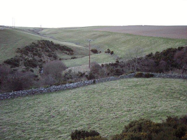 Draining Penmanshiel Moor.