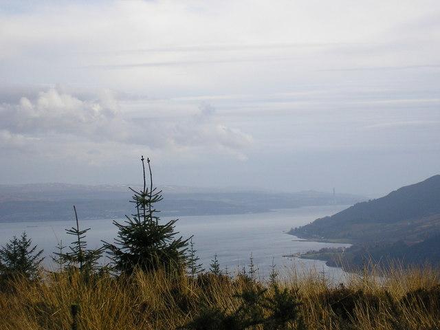 Firth of Clyde from above Glen Finart