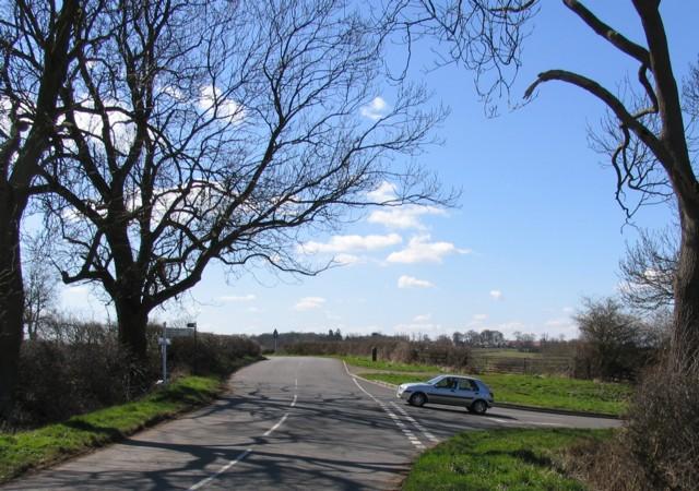Road junction near to Great Glen