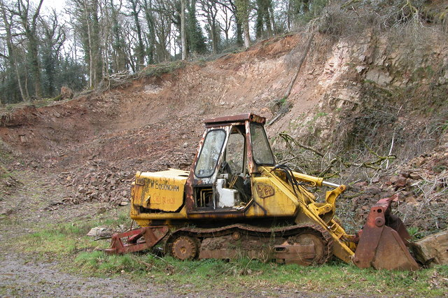 Old excavator in Densham Wood