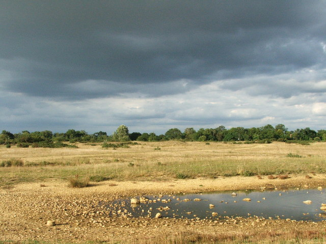 Stormy skies over Greenham Common