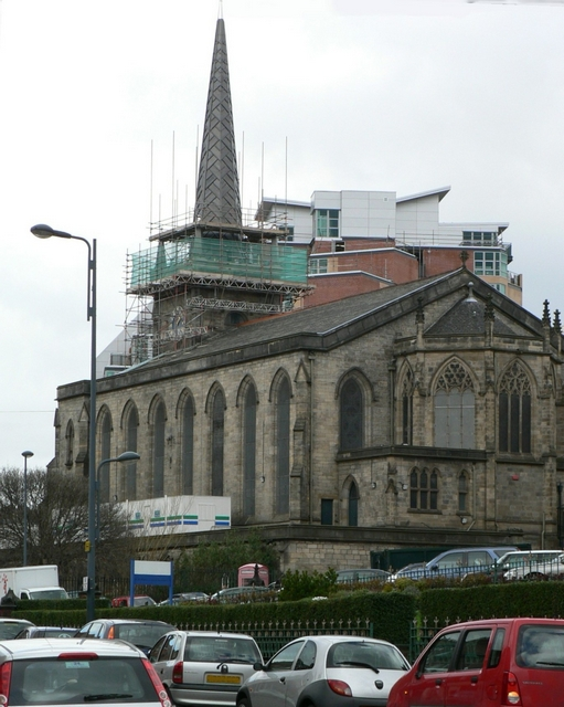 St George's and the new Spire, from the east
