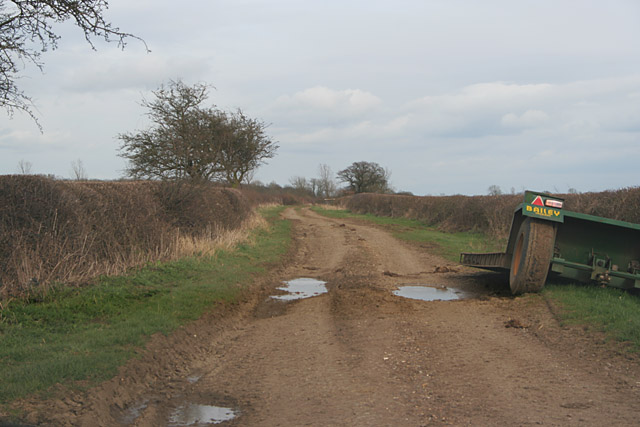 Six Hills Road near Walton-on-the-Wolds