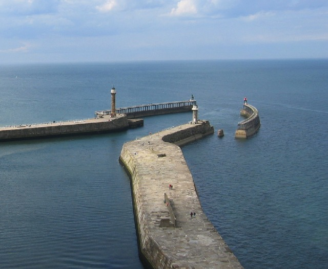 Whitby's Harbour entrance