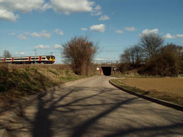Railway bridge near Widdington, Essex