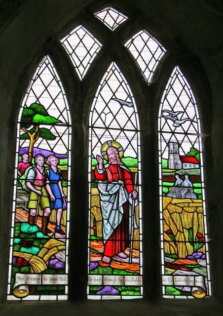 Ramblers' window, All Saints' Church, Walesby