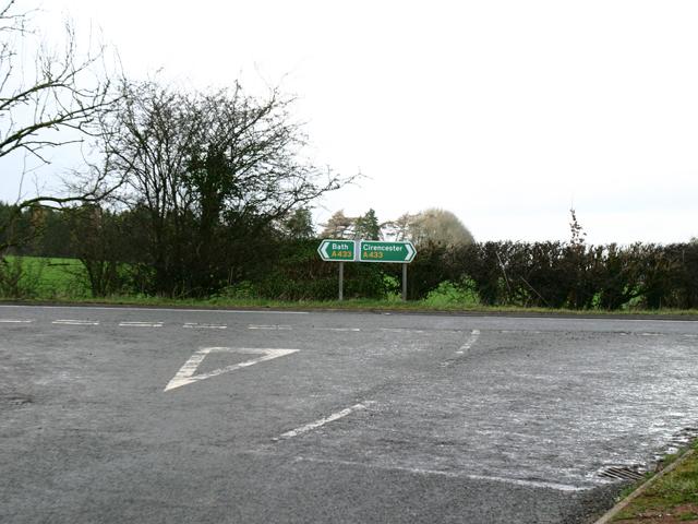 A433 Junction near Ilsom