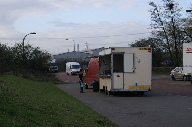 Burger Van on Corporation Road