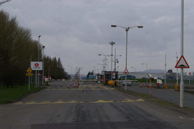 Entrance to Corus Steel Works