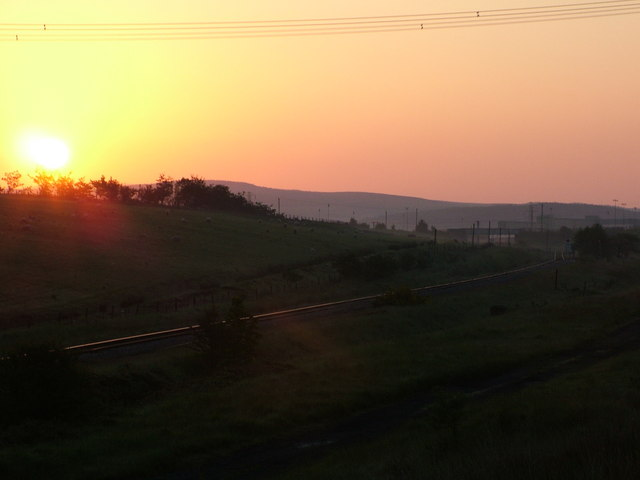 Sunrise over Onllwyn