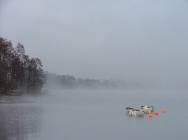 Misty Morning on Loch Insh