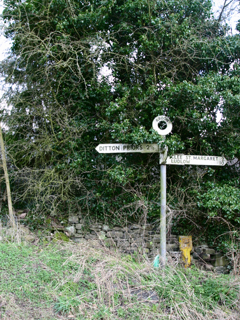 Signpost at Abdon