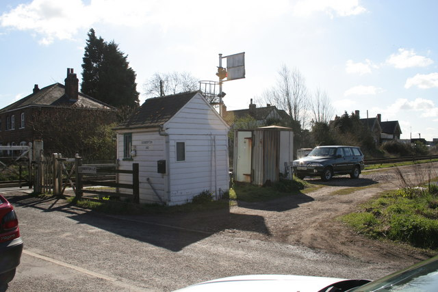 Crossing Gate Keeper's hut at Gosberton