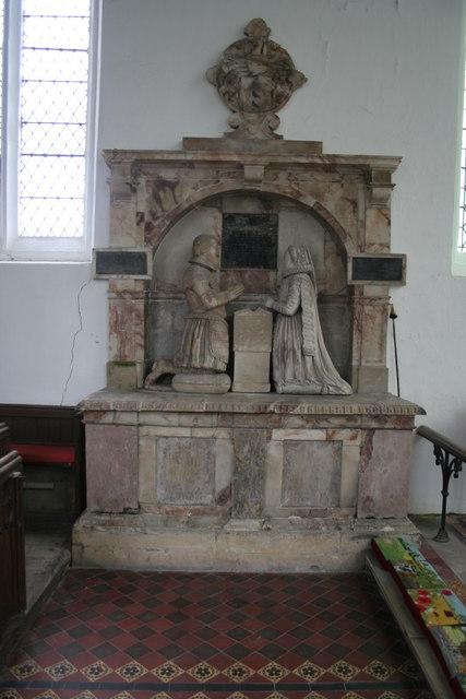Monument in Croft Church