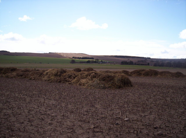 Fields and Muck from Dumbarrow Mains