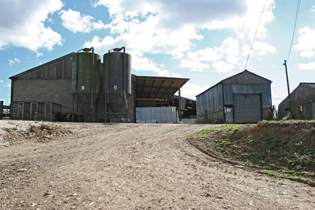 Farm buildings near Gilbert Street