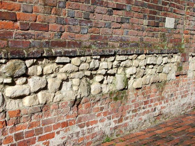 Tudor Walls off High Street, Gosport