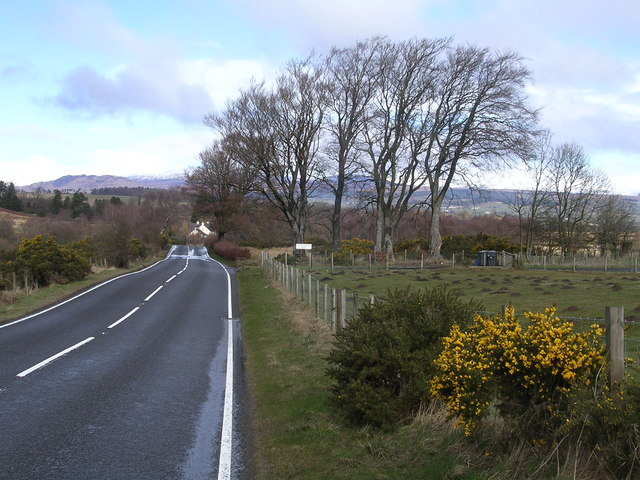 Drymen Road at Stockiemuir