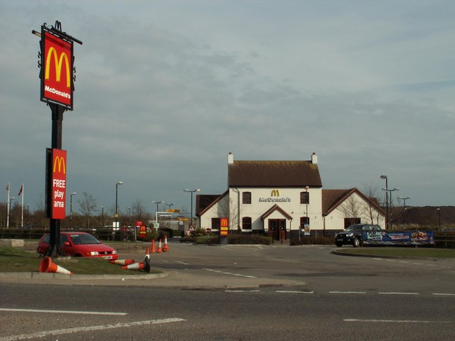 McDonald's, near Harlow, Essex