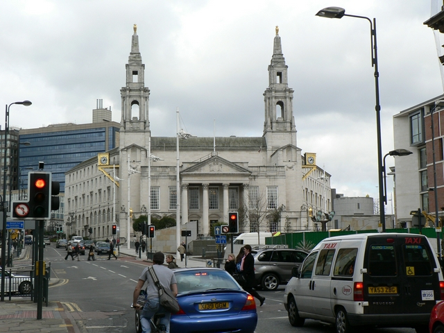 Calverley Street, Great George Street and Leeds Civic Hall