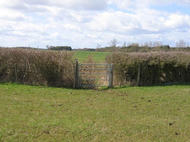 Footpath to Lower Radbourne
