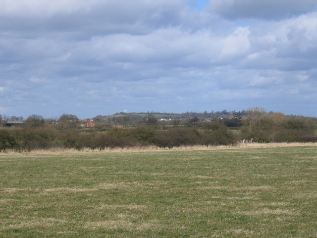 Distant view of Napton Windmill