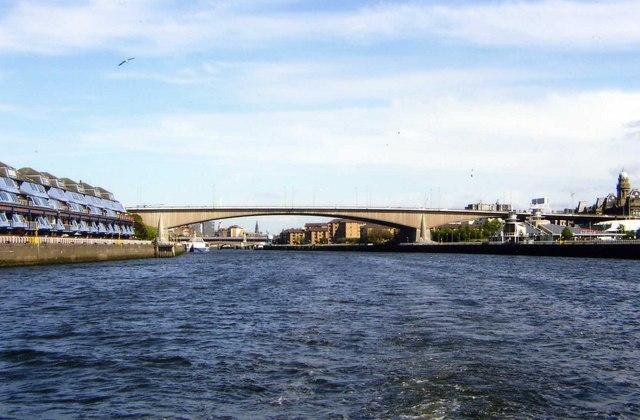 View of Kingston Bridge looking east towards Glasgow