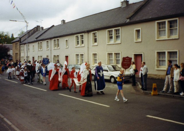 Lillias Day historical parade in New Street, Kilbarchan