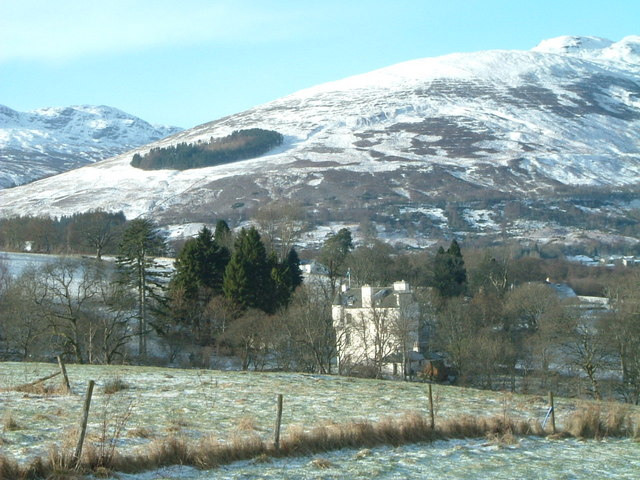 Castle at south-western end of Loch Earn