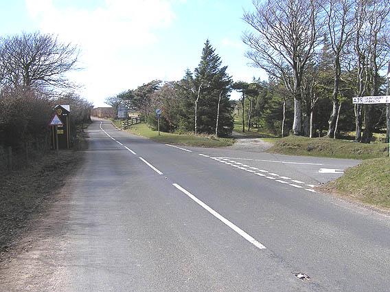 A39 at Pitcombe Head