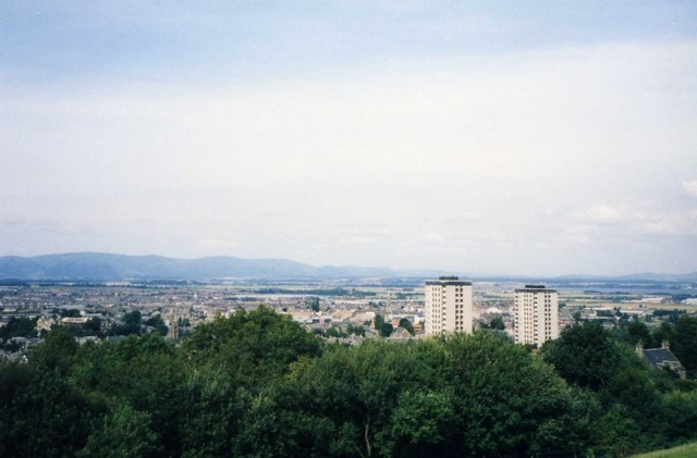 Panorama of Falkirk looking north