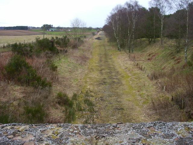 Dismantled railway near Glamis