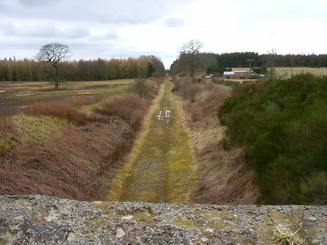 Dismantled railway near Glamis