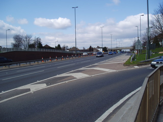 The A2 (Rochester Way) near Bexley, Kent