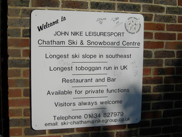 John Nike Ski Centre Sign