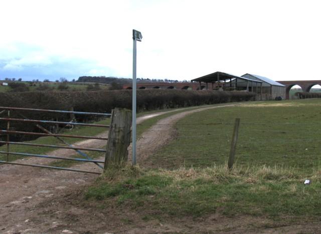 Path towards viaduct