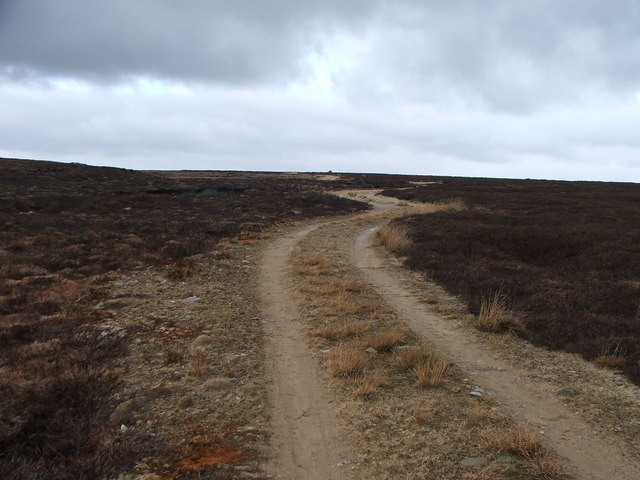 Shooters road across Hazely Peat Moor.