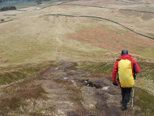 Descending Penhill.